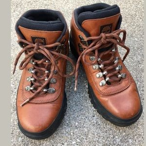 Timberland Cognac Leather Waterproof Boots